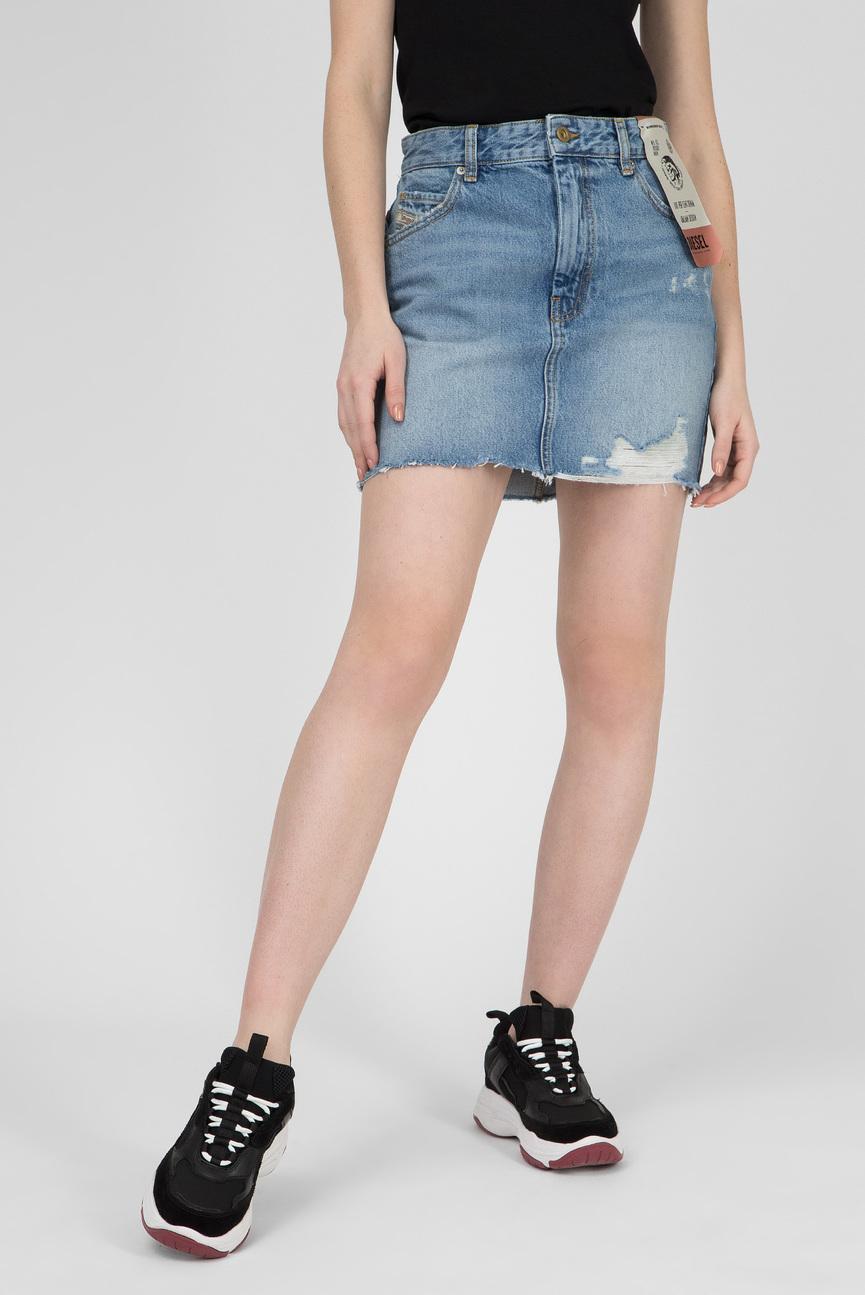 Женская голубая джинсовая юбка DE-ELLE