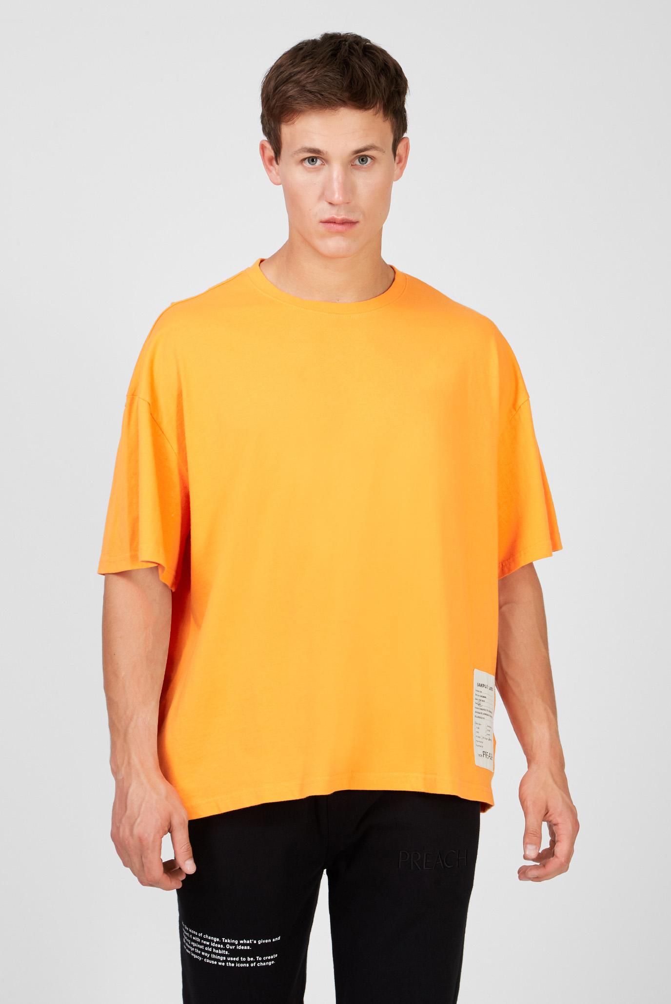 Мужская оранжевая футболка Oversized 1