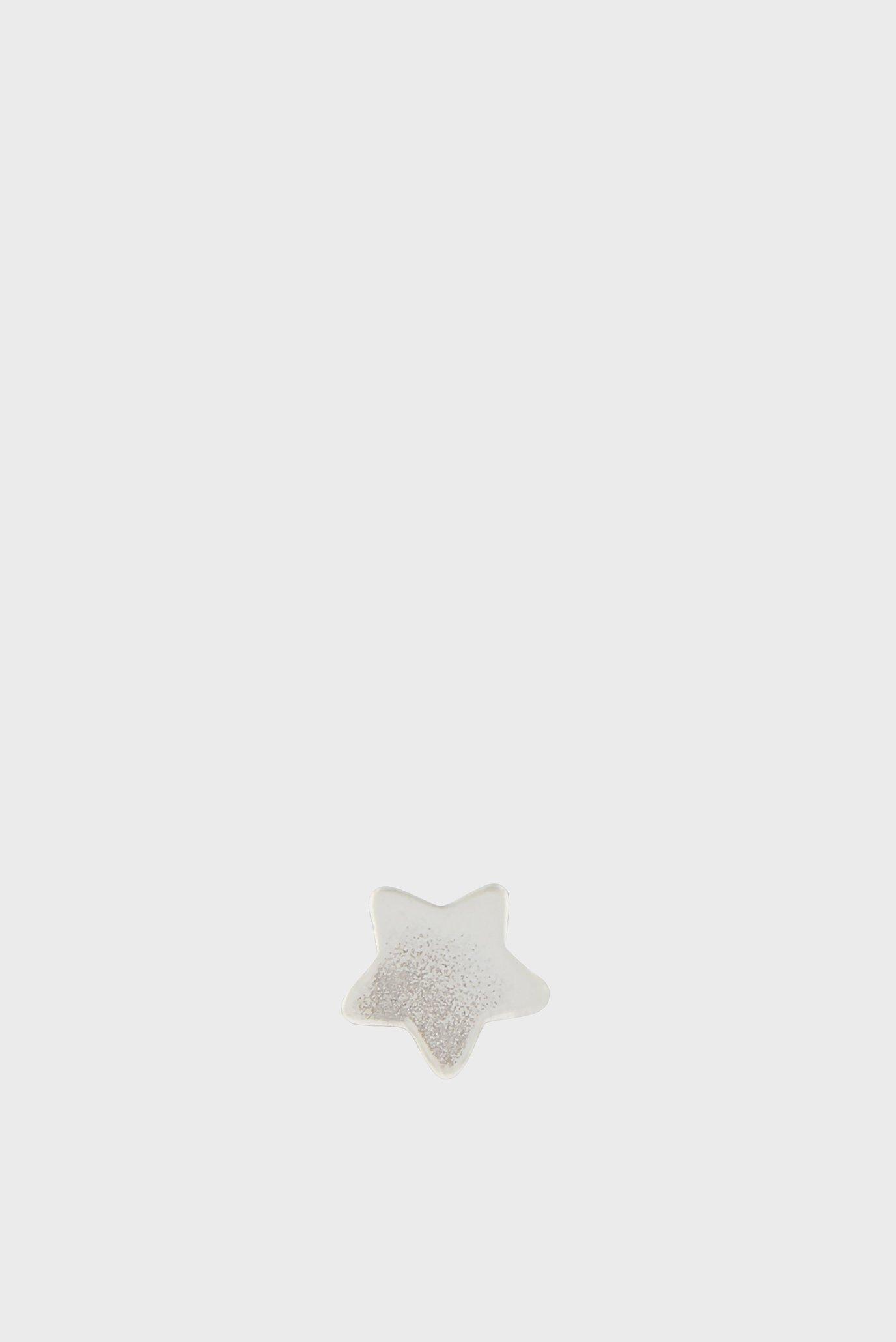 Жіноча срібна моносережка ST SINGLE STUD STAR 1