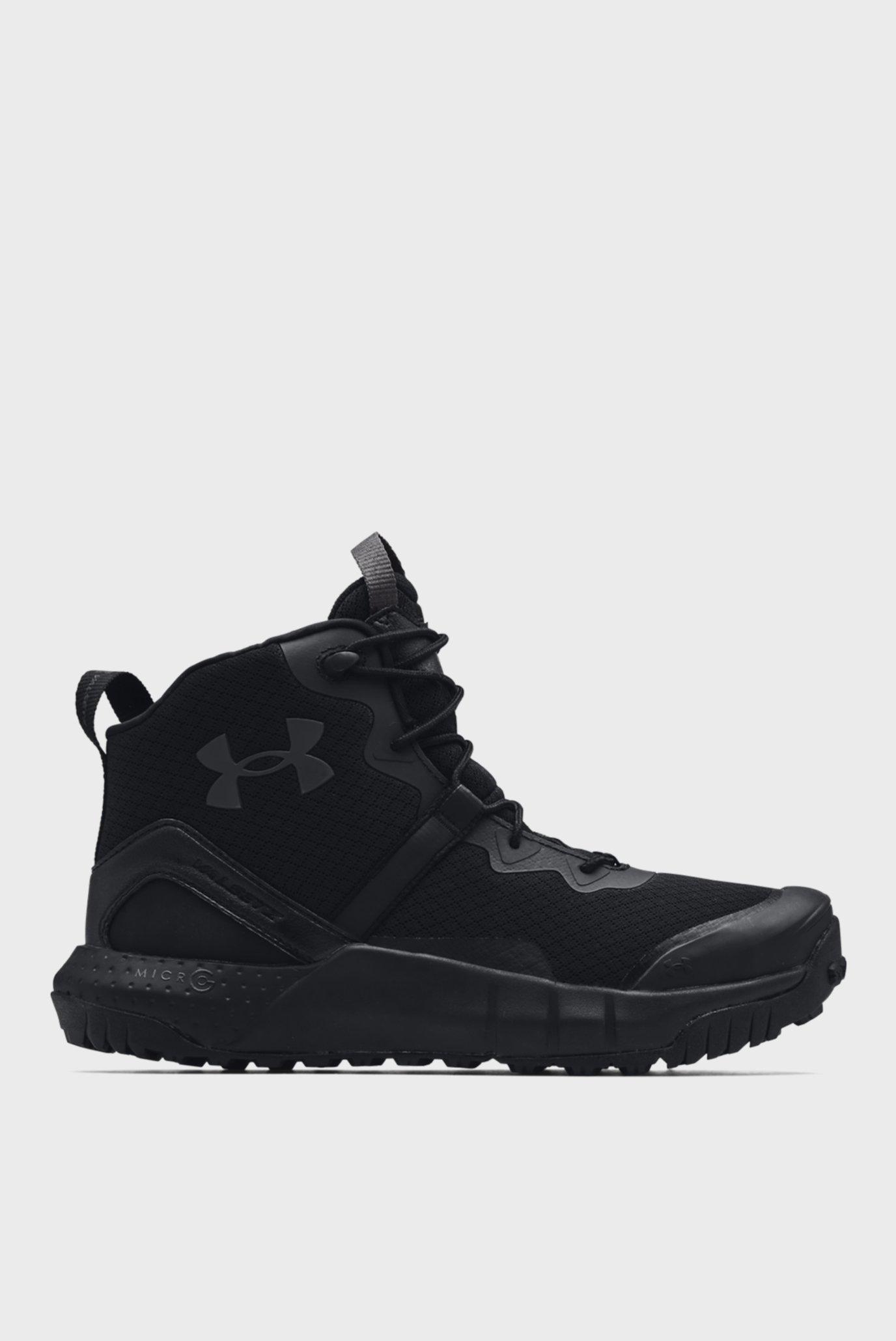 Мужские черные ботинки UA Micro G Valsetz Mid 1