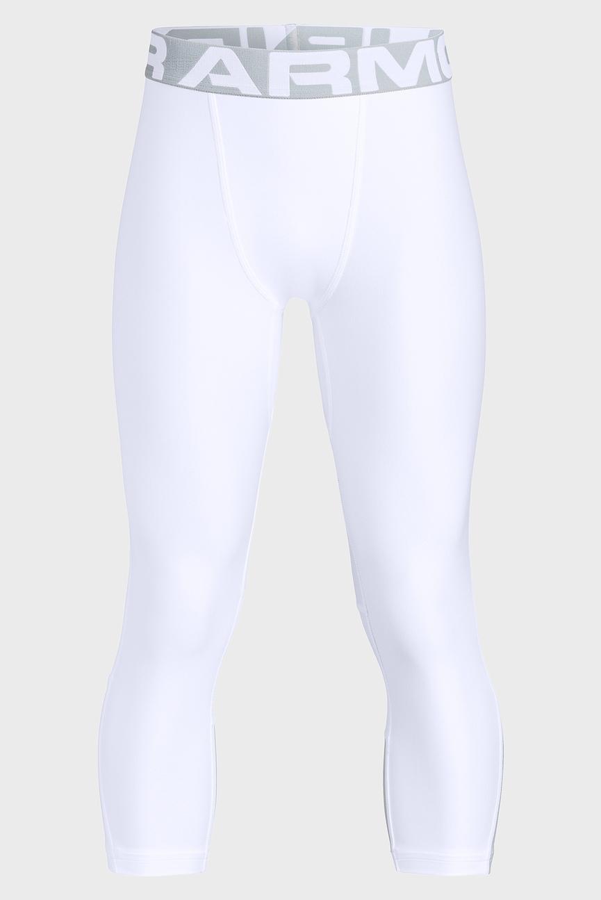 Детские белые тайтсы Armour HeatGear 3/4 Legging
