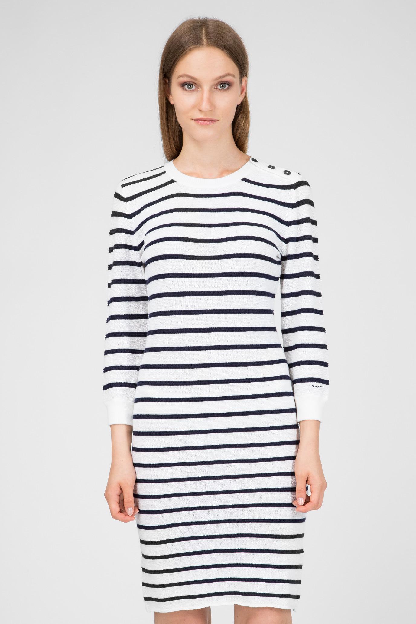74d592207131d Купить Женское белое платье в полоску Gant Gant 4502007 – Киев, Украина.  Цены в интернет магазине MD Fashion