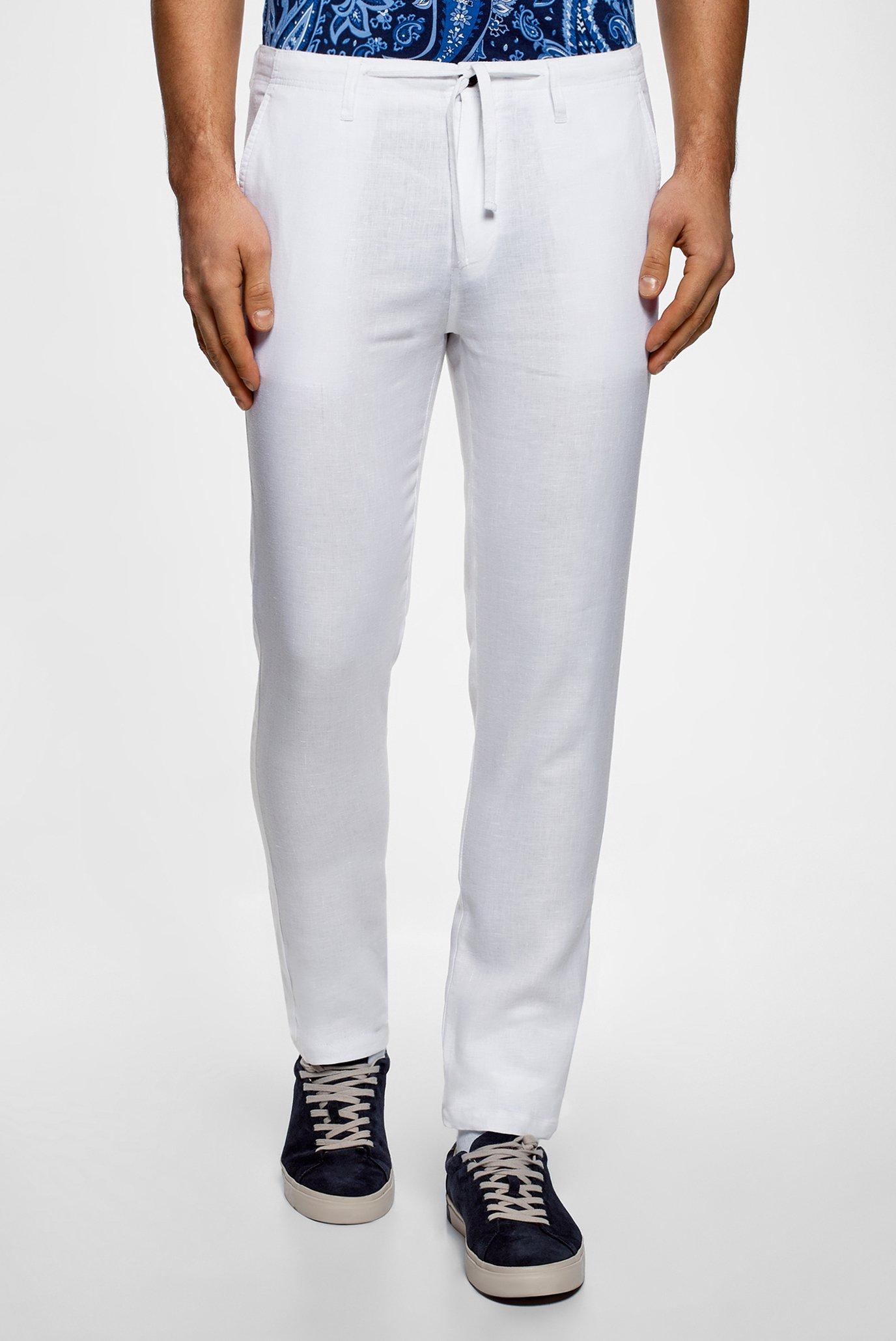 effd4c14538ef25 Купить Мужские белые брюки Oodji Oodji 2B200018M/44233N/1000N – Киев,  Украина. Цены в интернет магазине MD Fashion