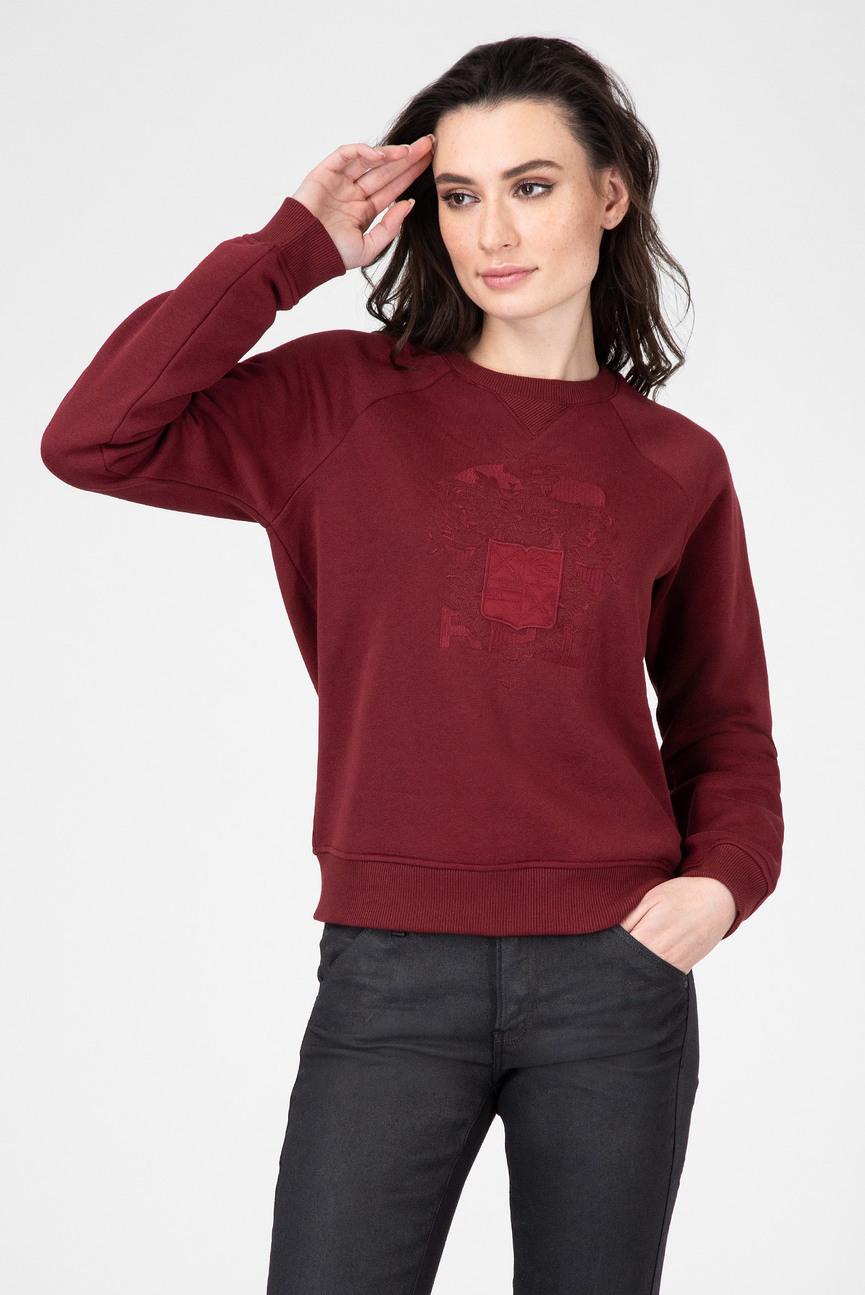 Женский бордовый свитшот