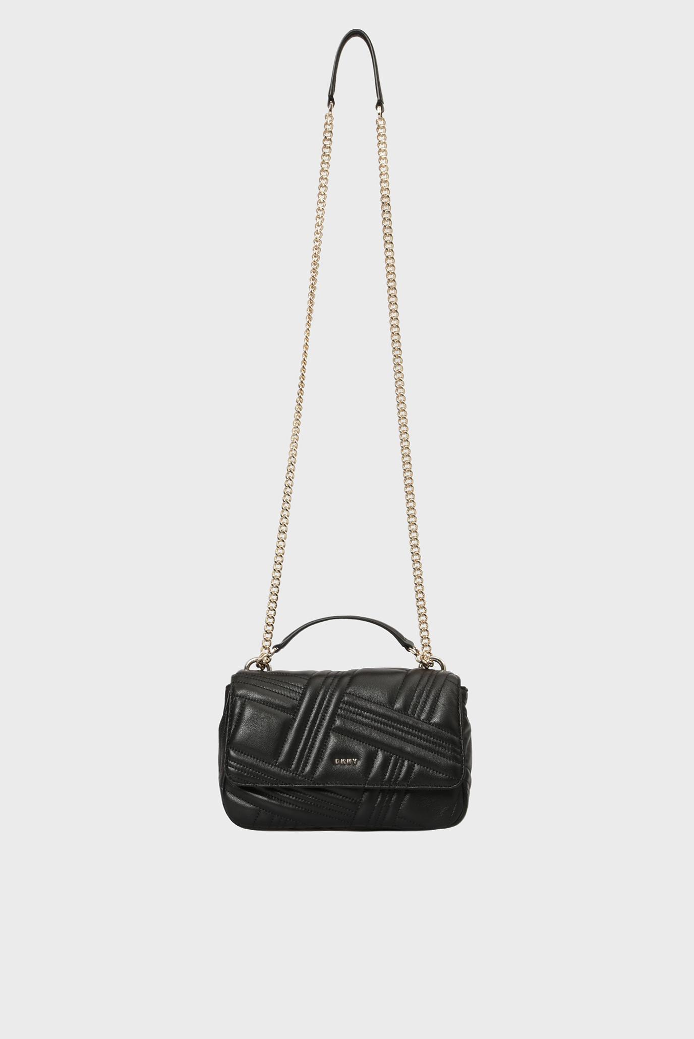 ce61fc996f4b Купить Женская черная кожаная сумка на плечо ALLEN- MD DKNY DKNY R833B638 –  Киев, Украина. Цены в ...