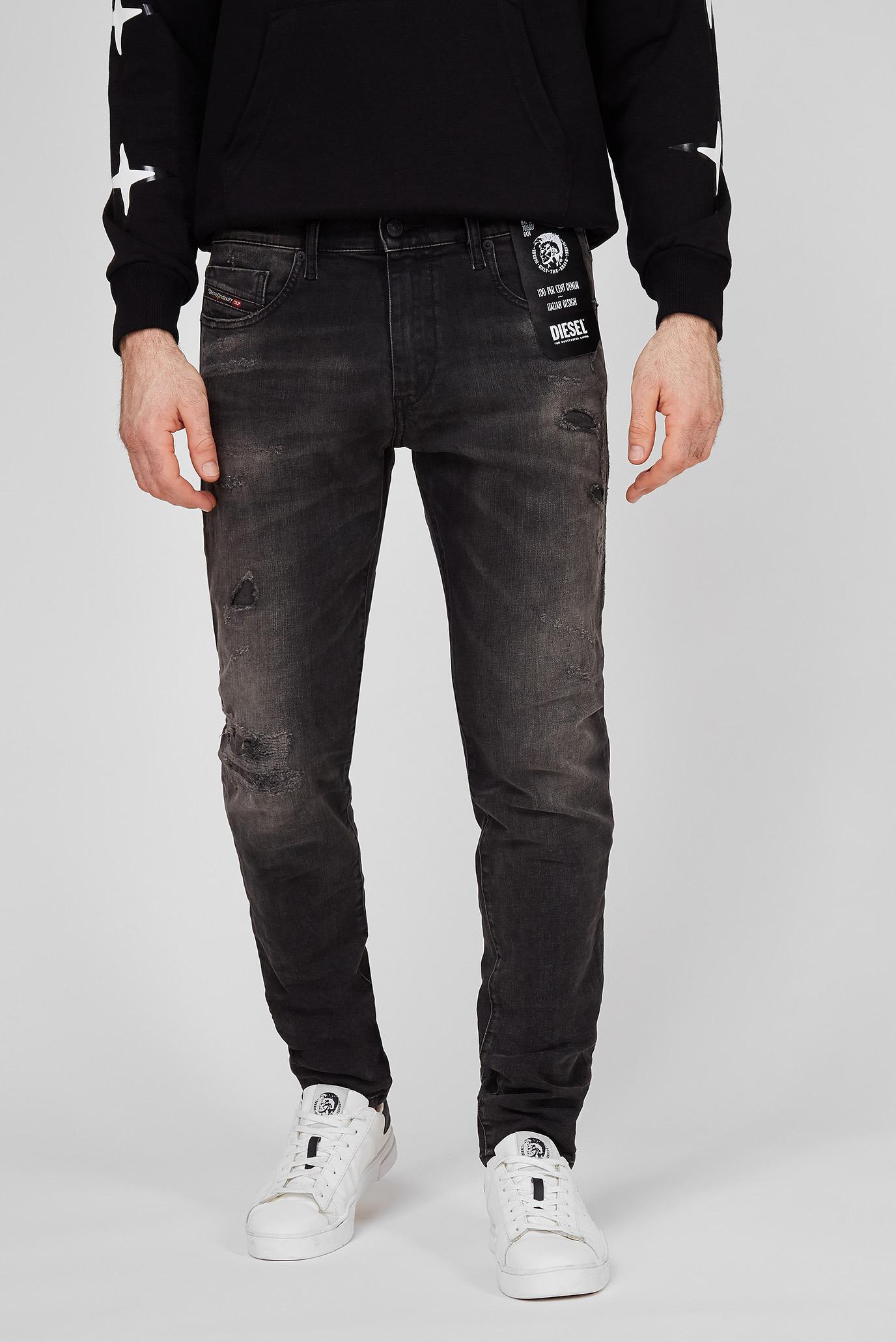 Мужские черные джинсы D-STRUKT  L.32 TROUSERS 1
