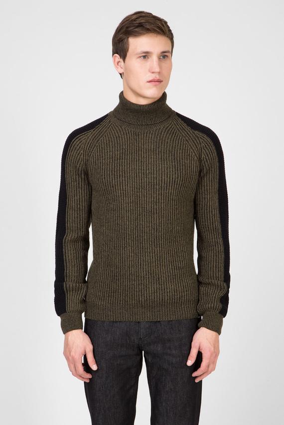 Мужской зеленый свитер BICOLOR REGULAR FIT