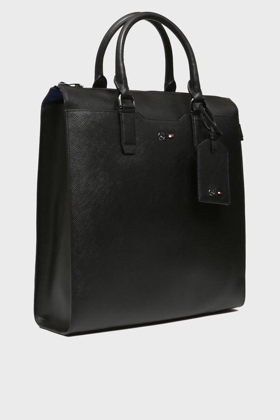 Мужская черная кожаная сумка-тоут 2MB TALL