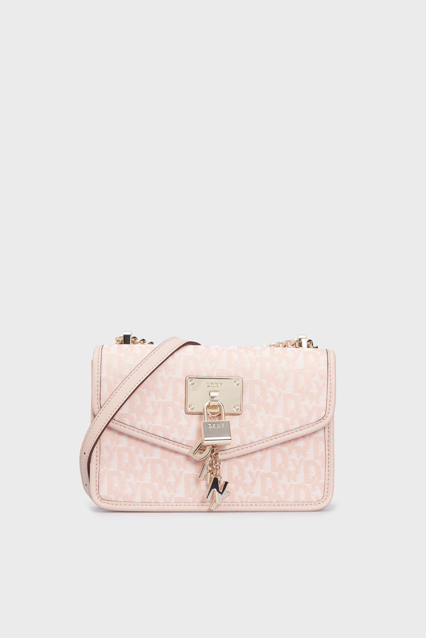 Женская пудровая сумка через плечо 1