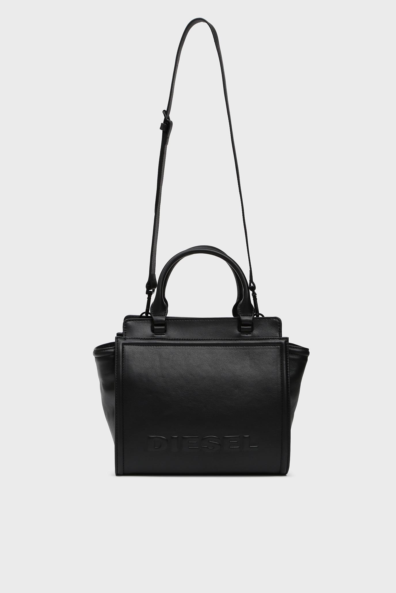 Женская черная кожаная сумка на плечо KUB8 / BADIA Diesel
