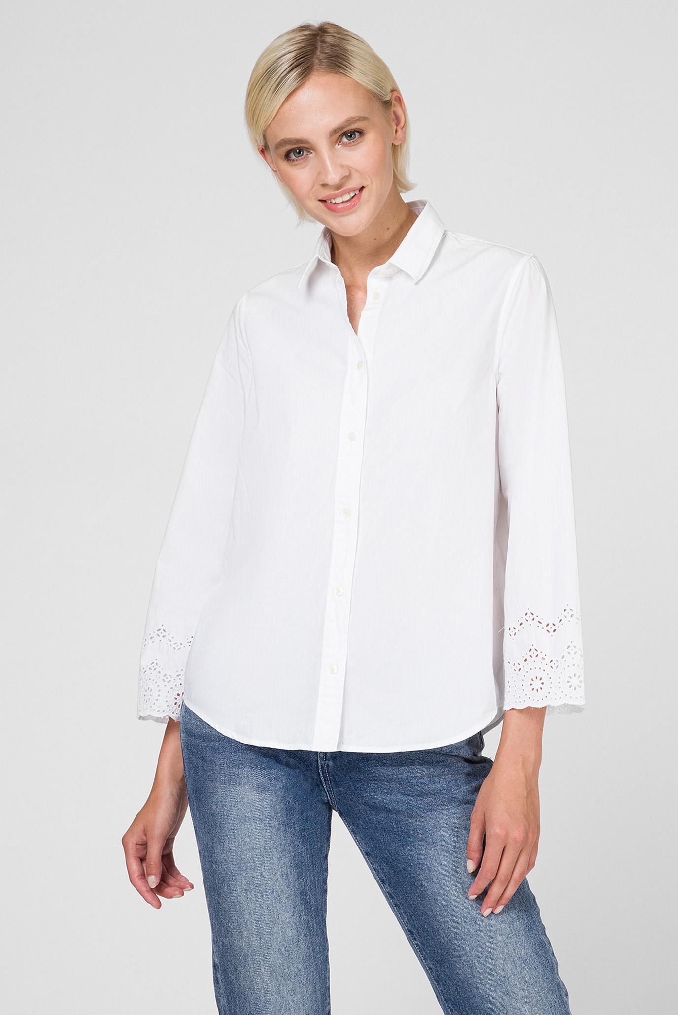 Женская белая блуза BRODERIE ANGLAISE SHIRT 1