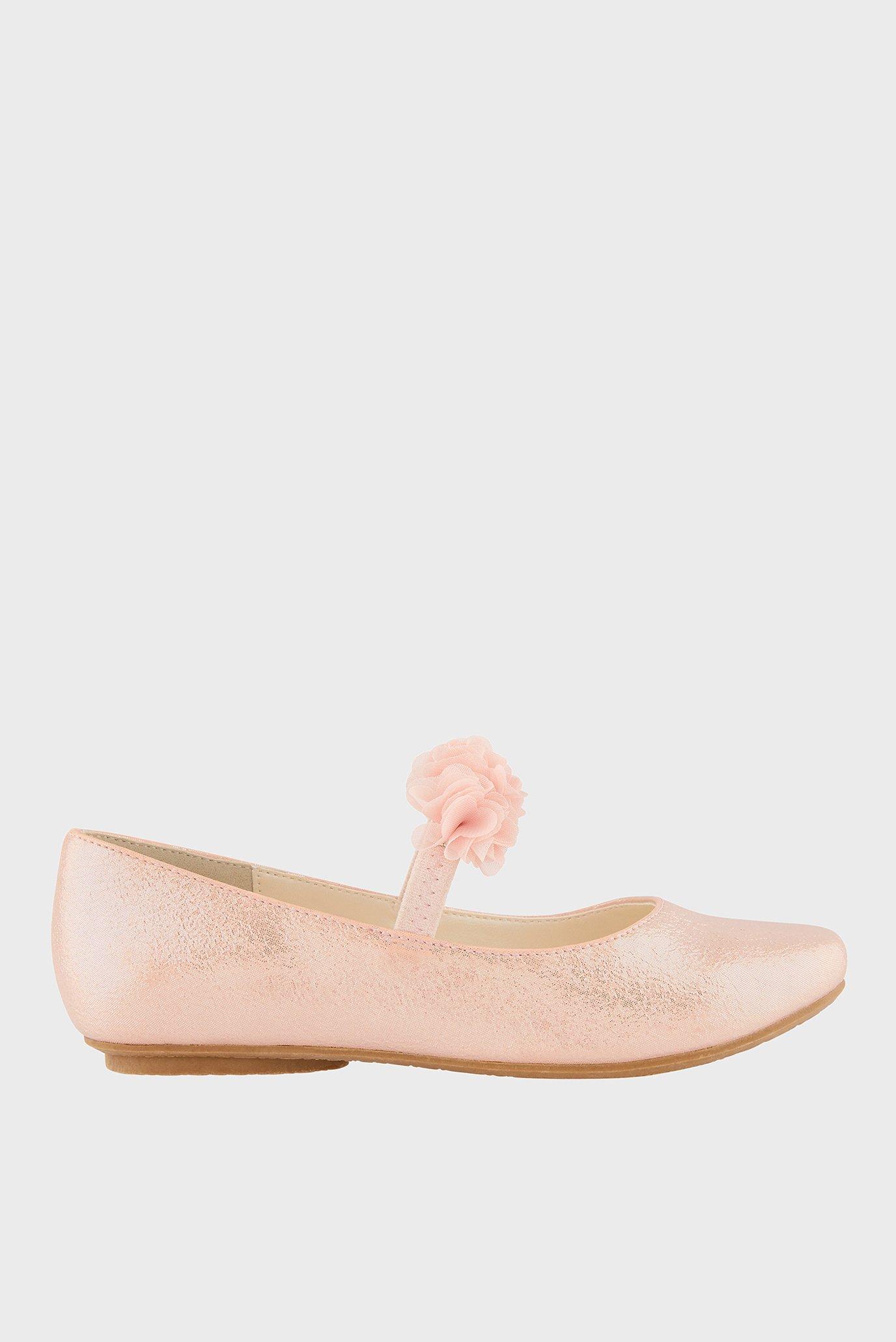 Детские розовые балетки PINK CYNTHIA CORSAGE 1