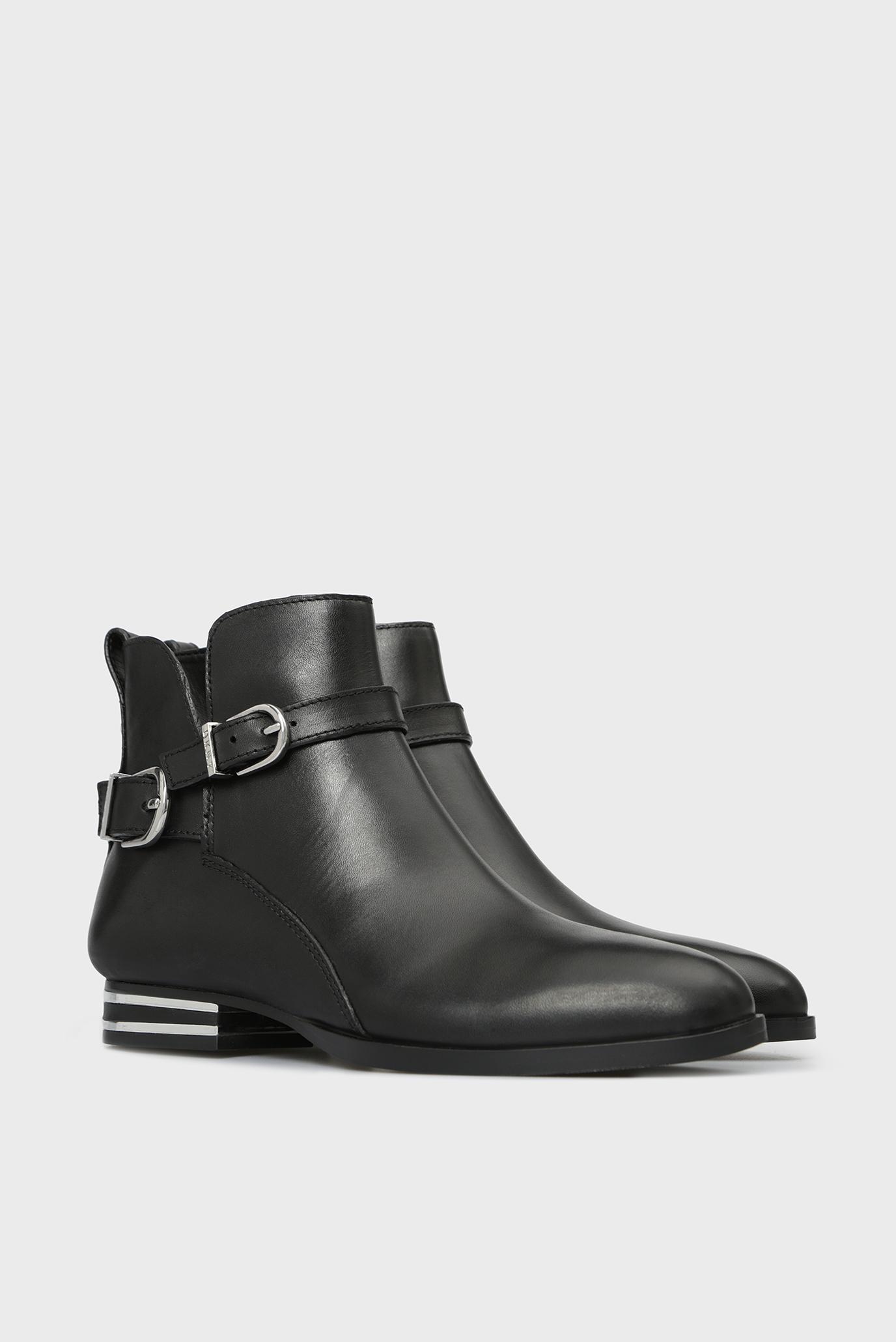 Купить Женские черные кожаные ботинки LILY DKNY DKNY K3839774 – Киев, Украина. Цены в интернет магазине MD Fashion