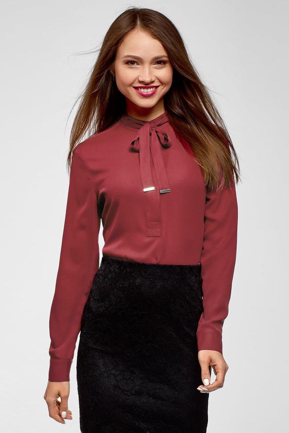 Женская красная блуза