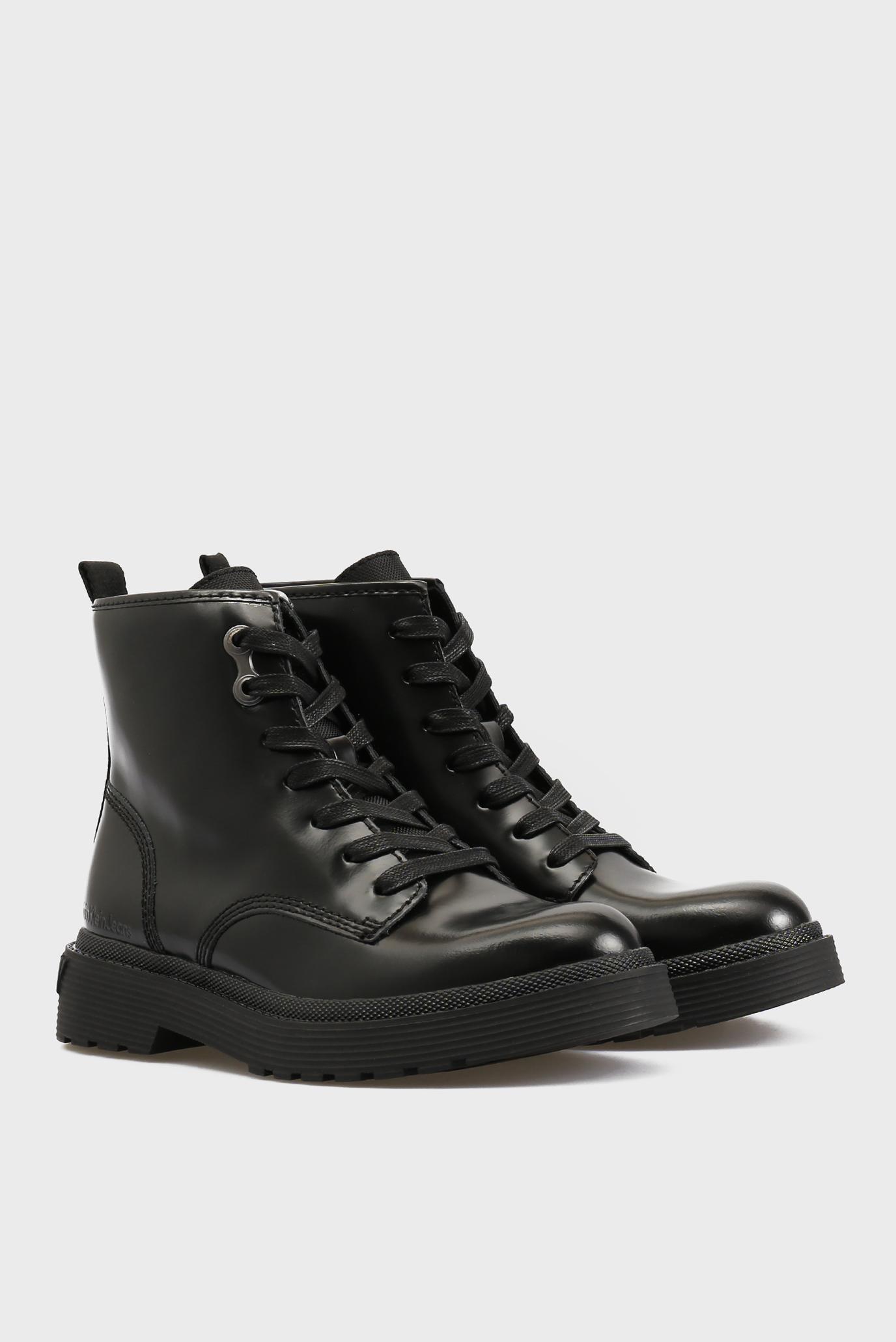 Купить Женские черные кожаные ботинки Calvin Klein Calvin Klein R0551 – Киев, Украина. Цены в интернет магазине MD Fashion