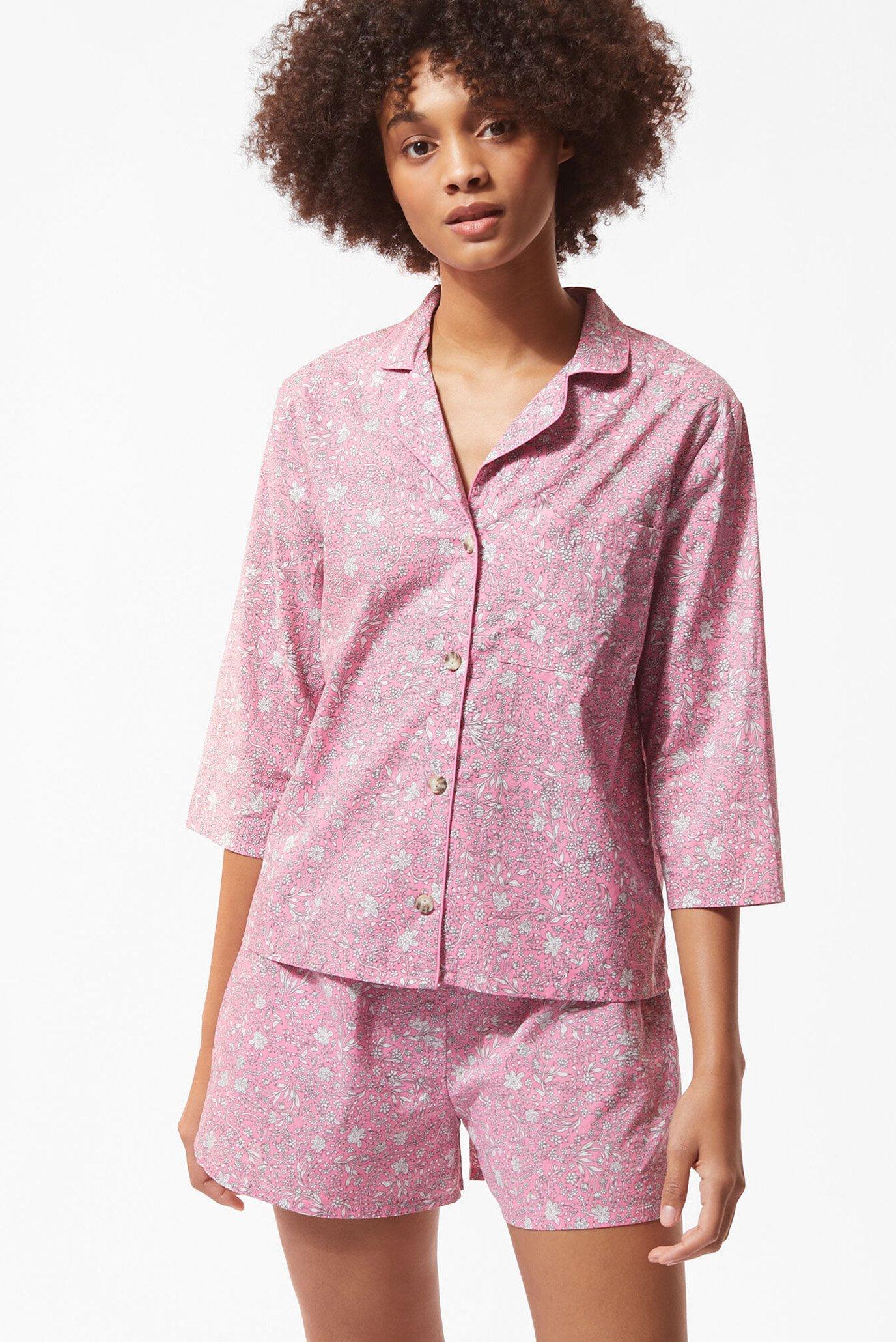 Женская розовая рубашка LILIE 1