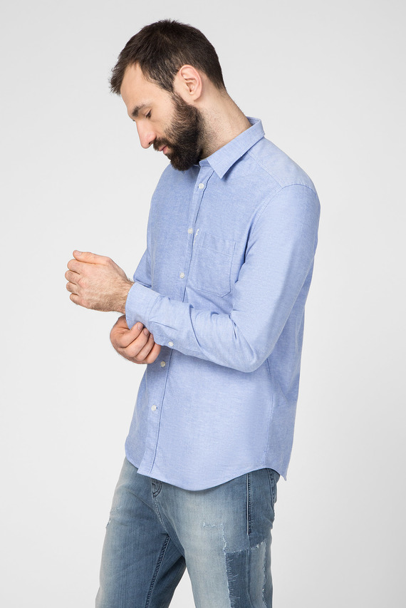 Мужская голубая рубашка S-MOI-R-B1