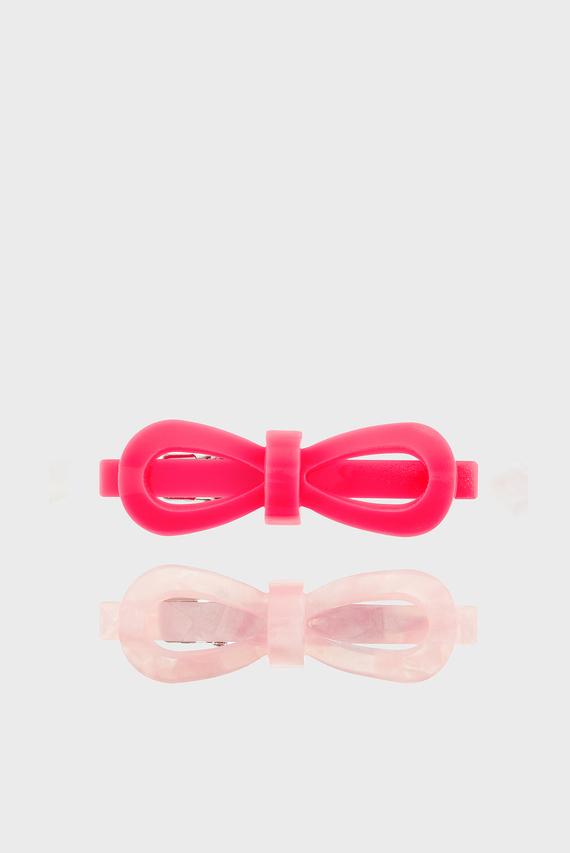Детские розовые заколки (2 шт)