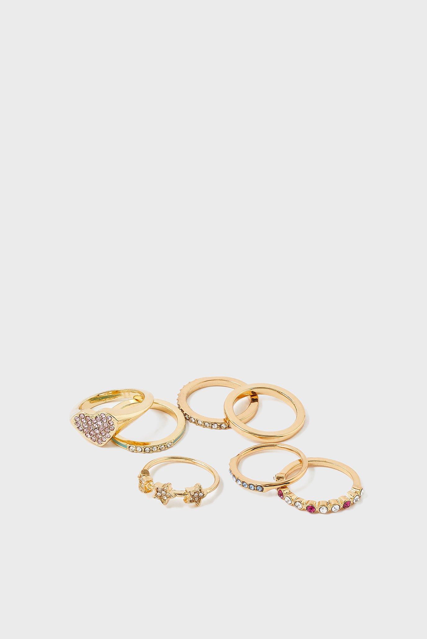 Женские золотистые кольца (7 шт)  FEELGOOD 1