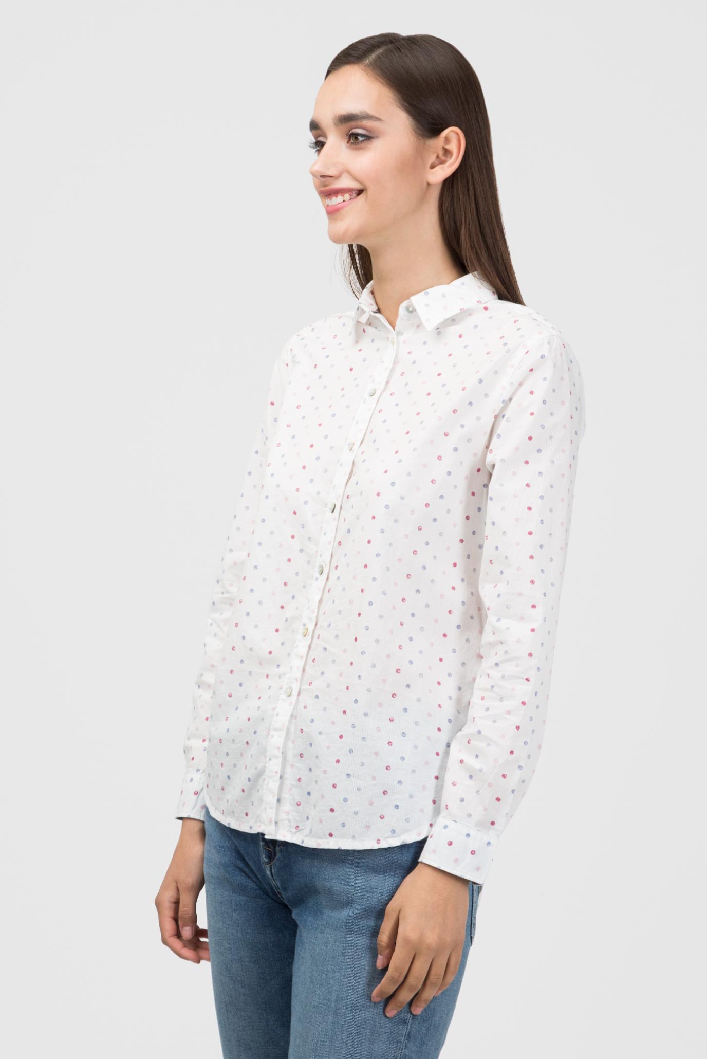 Купить Женская белая рубашка в горошек MILLIE Pepe Jeans Pepe Jeans PL303351 – Киев, Украина. Цены в интернет магазине MD Fashion