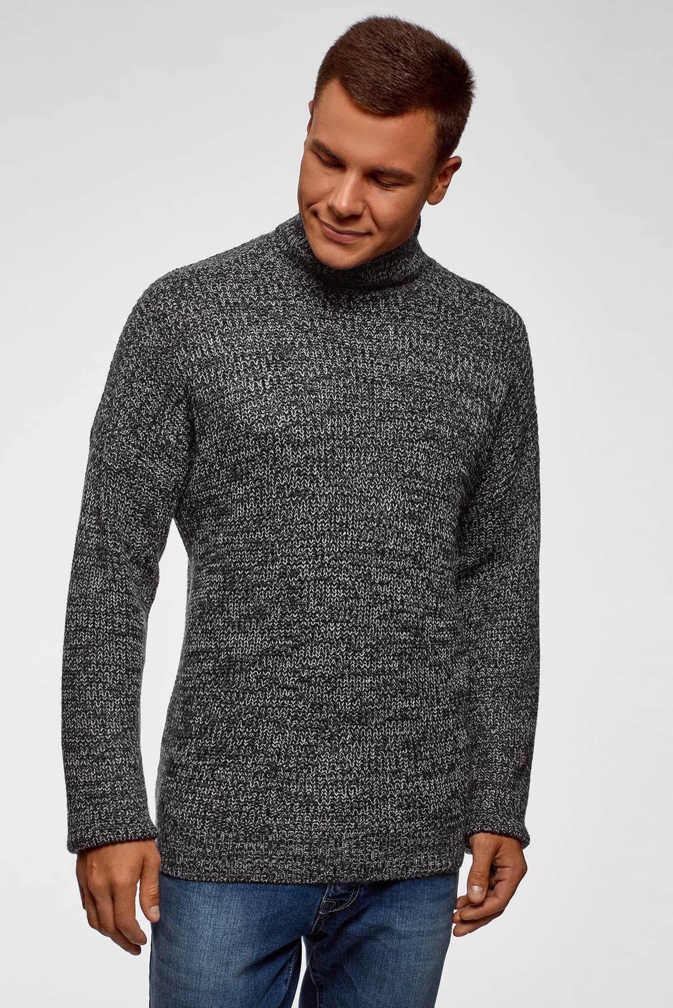 Мужской темно-серый свитер 1