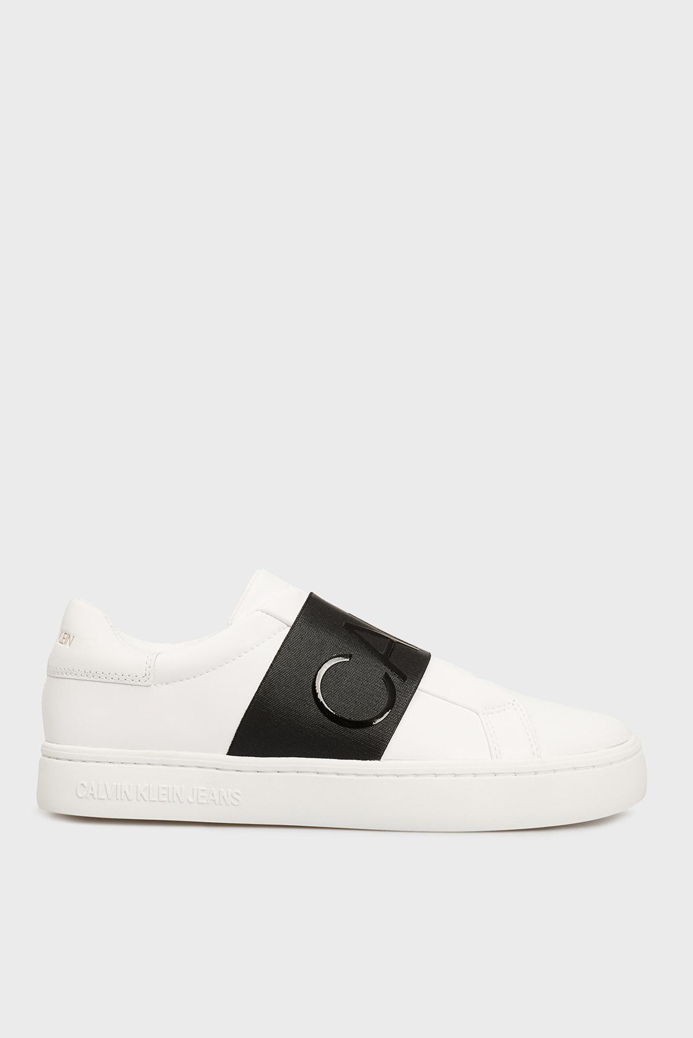Женские белые слипоны CUPSOLE ELASTIC LTH Calvin Klein Jeans YW0YW00160 — MD-Fashion