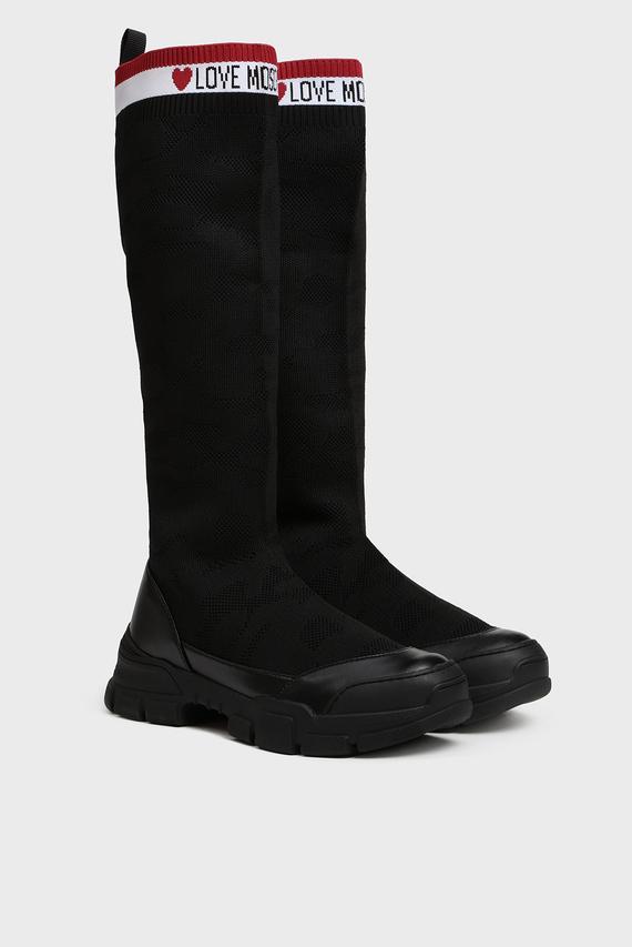 Женские черные сапоги