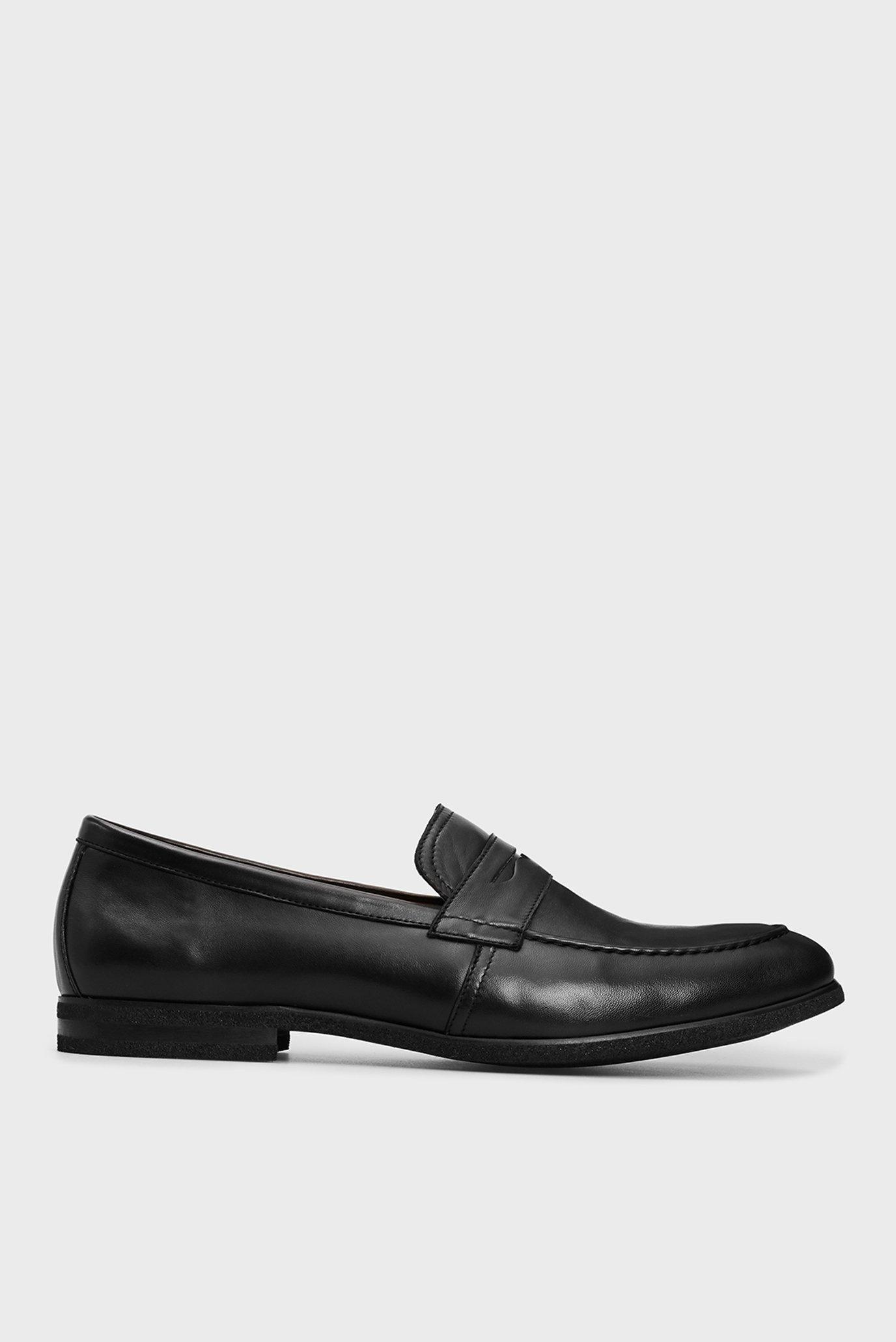 Мужские черные кожаные лоферы Francisco 1