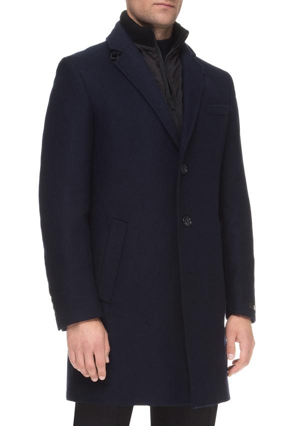 Мужской темно-синее пальто