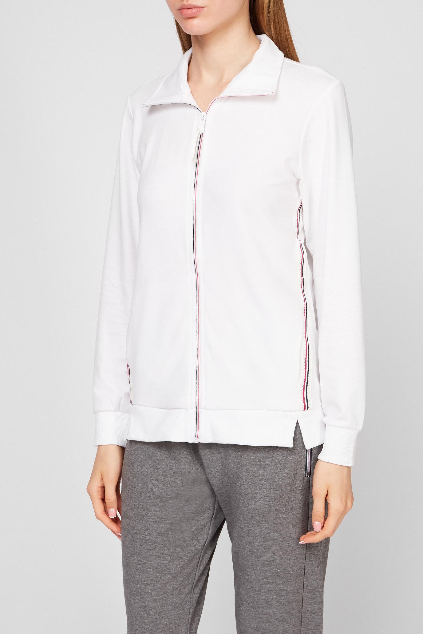 Женская белая спортивная кофта 1