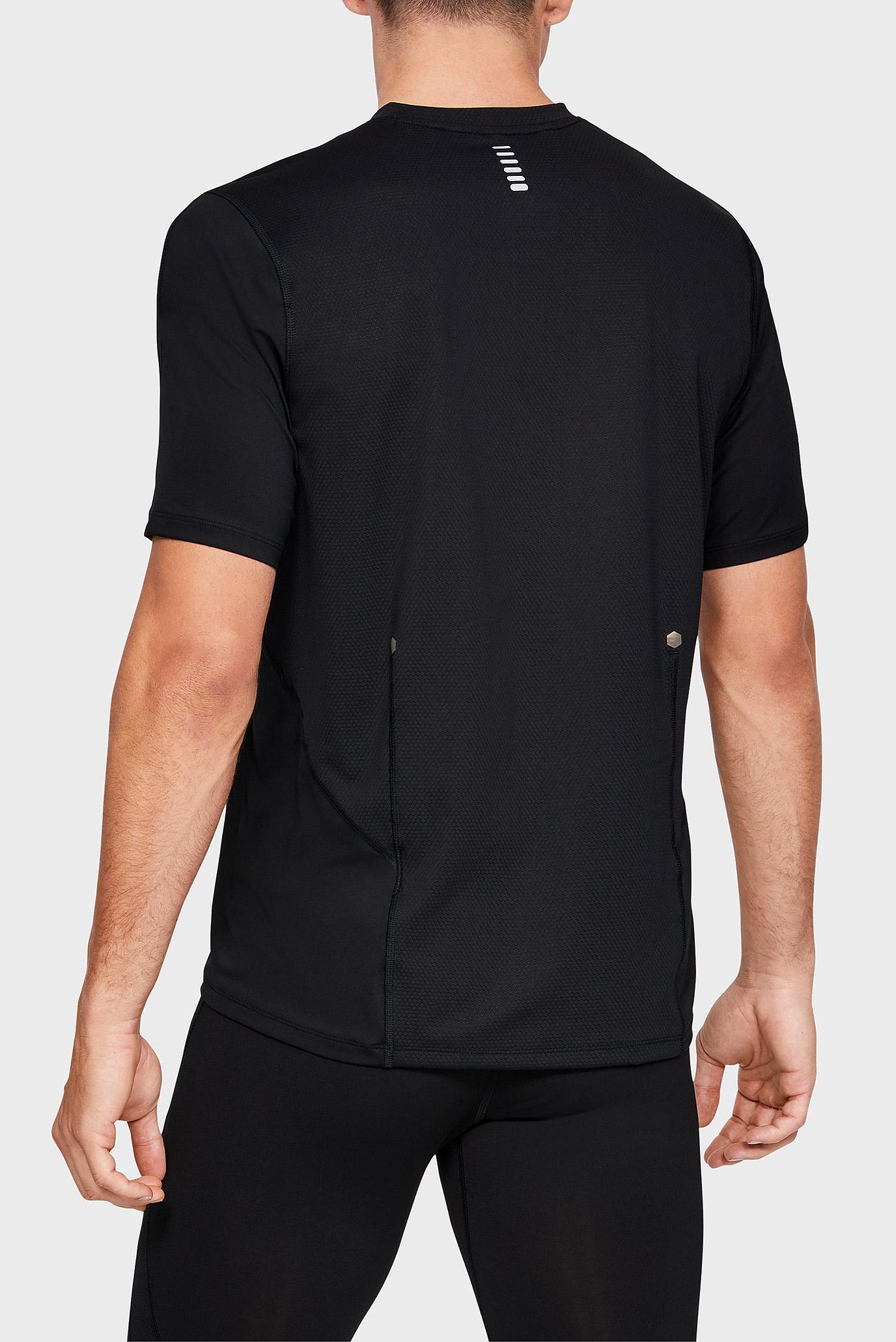 Купить Мужская черная футболка UA RUSH RUN Under Armour Under Armour 1331741-001 – Киев, Украина. Цены в интернет магазине MD Fashion