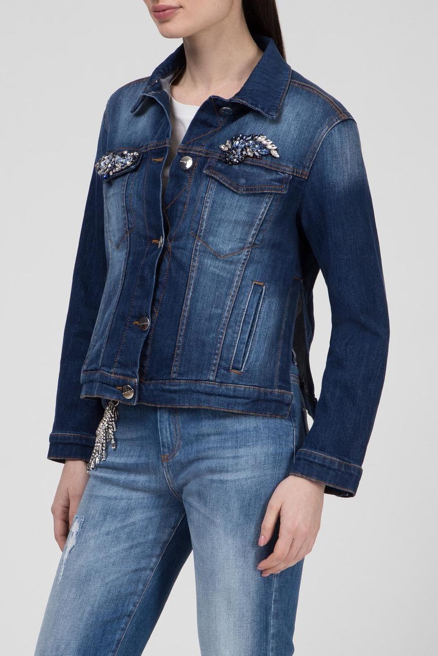 Женская синяя джинсовая куртка SORBETTO