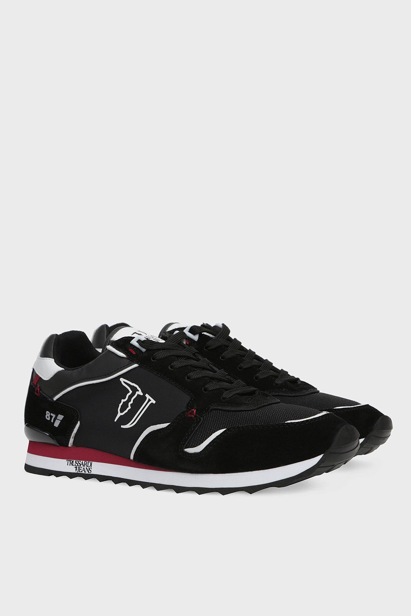Мужские черные кроссовки RUNNER NYLON NEW Trussardi Jeans