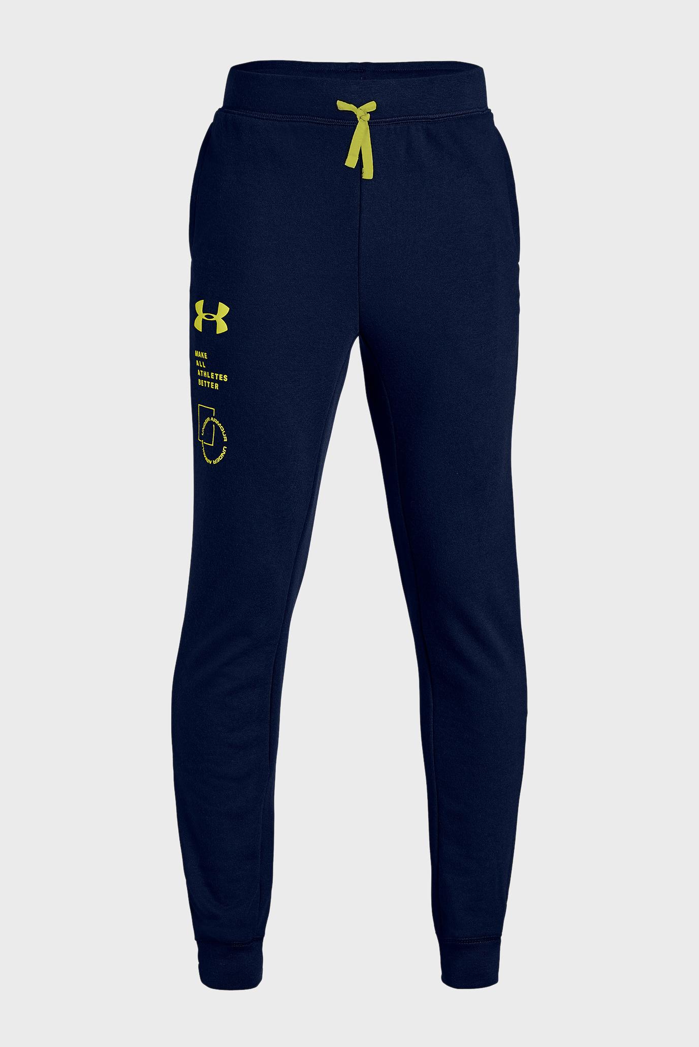 Купить Детские темно-синие спортивные брюки Rival Terry Pant Under Armour Under Armour 1333037-408 – Киев, Украина. Цены в интернет магазине MD Fashion