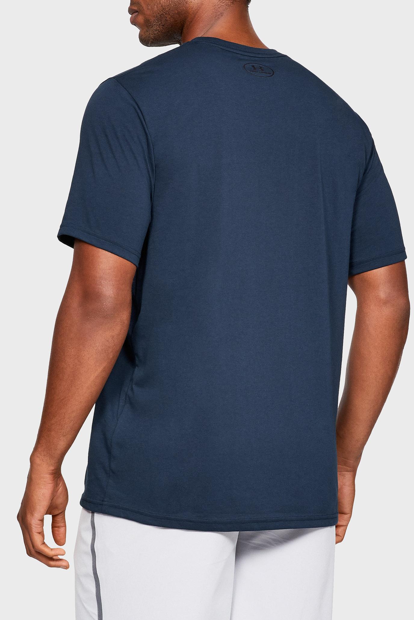 Мужская темно-синяя футболка UA BRANDED BIG LOGO SS Under Armour