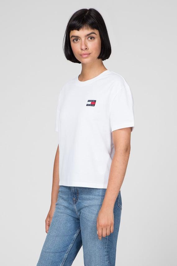Женская белая футболка TJW TOMMY BADGE