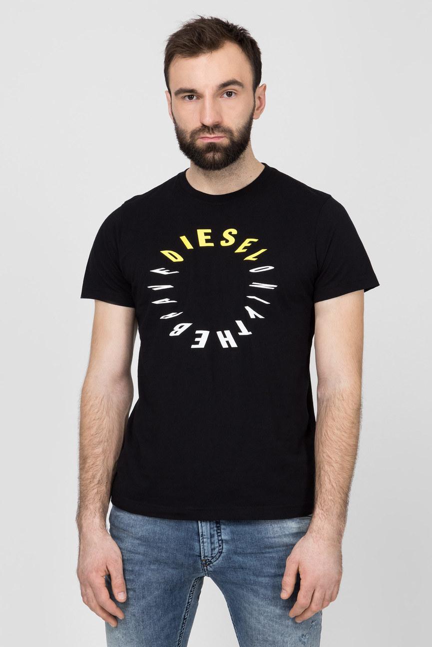 Мужская черная футболка T-DIEGO-Y2