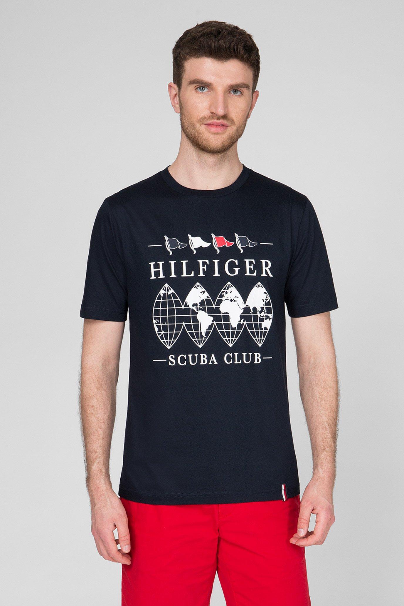 Мужская темно-синяя футболка SCUBA CLUB RELAXED FIT Tommy Hilfiger