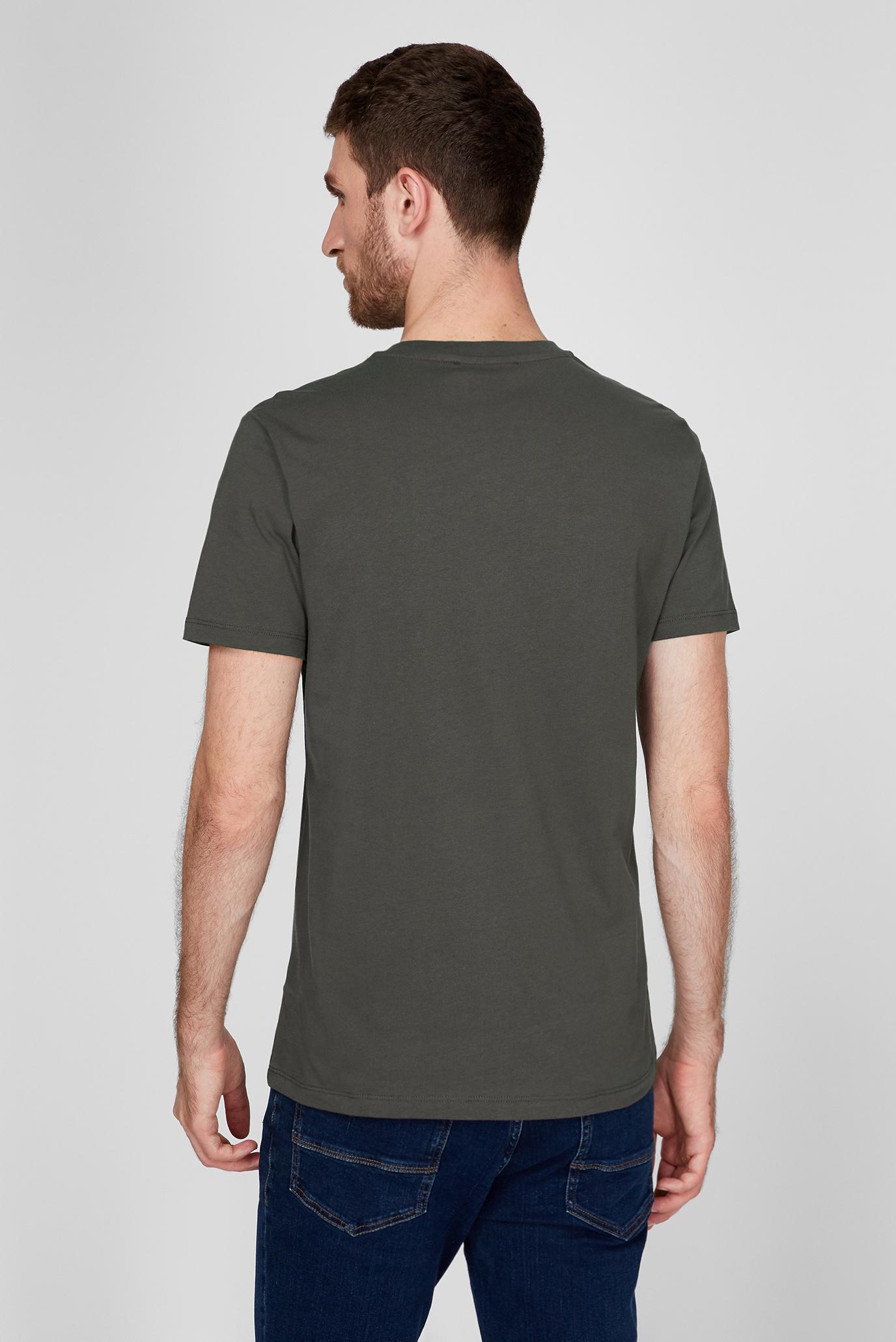 Мужская темно-серая футболка REGULAR FIT Trussardi Jeans