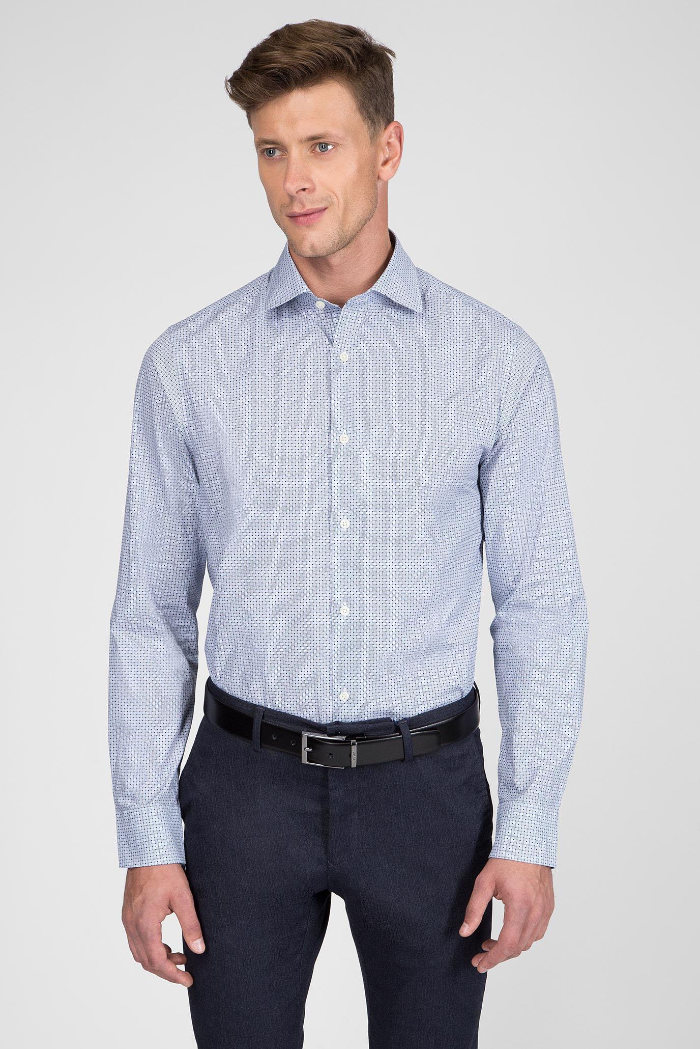 Купить Мужская белая рубашка с принтом Gant Gant 3051714 – Киев, Украина. Цены в интернет магазине MD Fashion