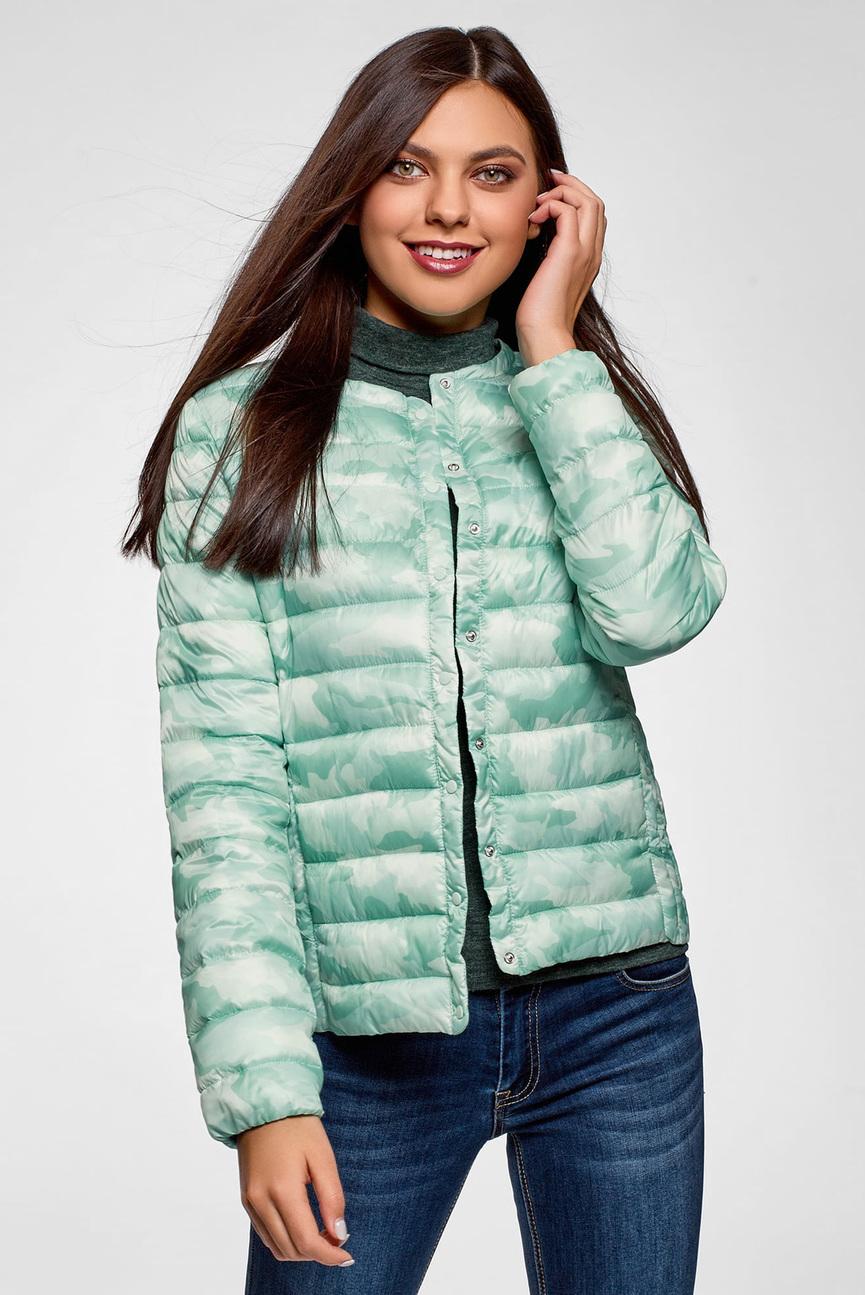 Женская ментоловая куртка