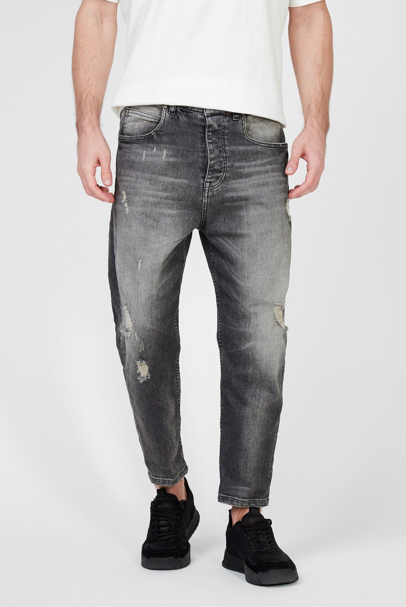 Мужские серые джинсы Toni 9941 destroyed 1