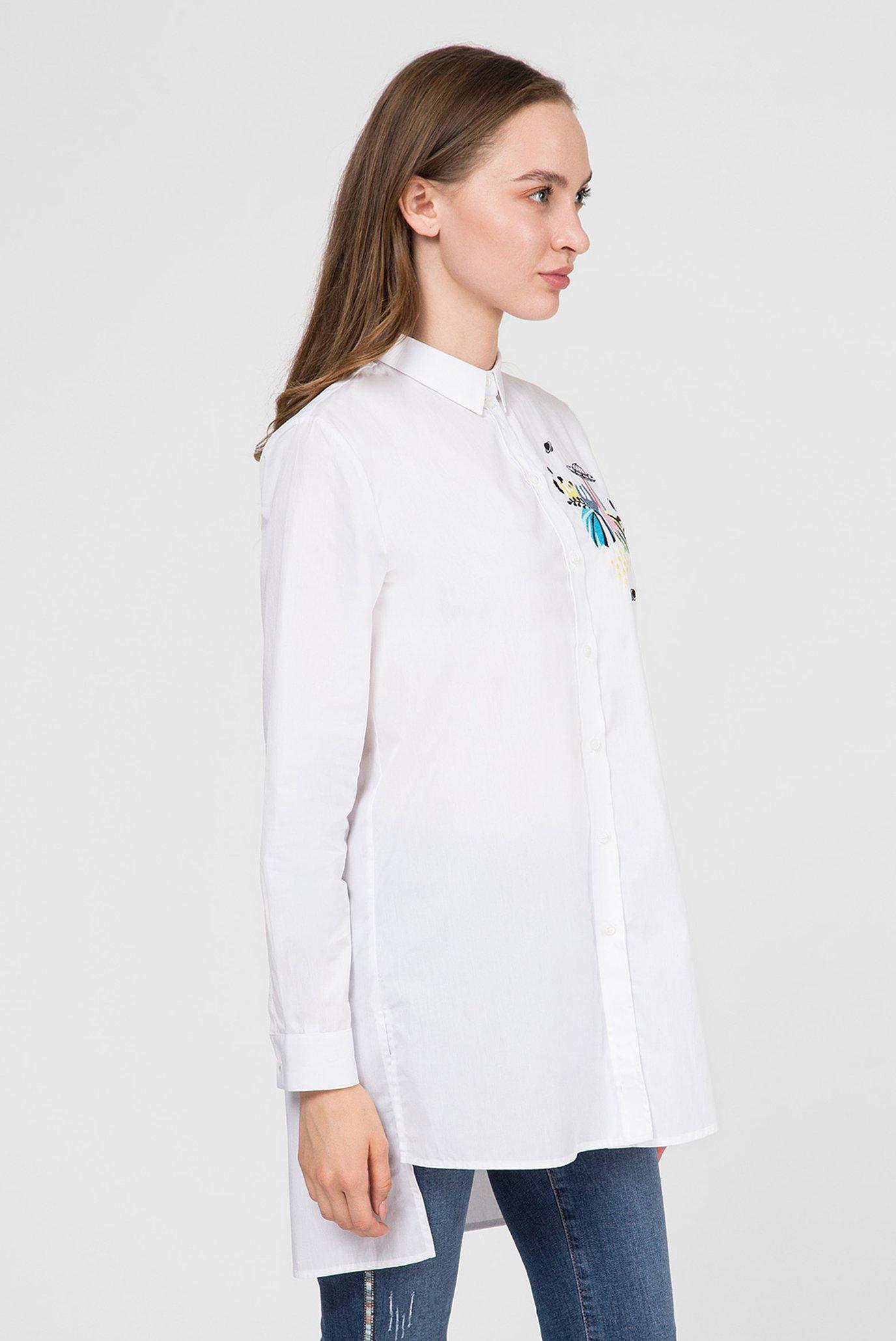 Женская белая рубашка Trussardi Jeans