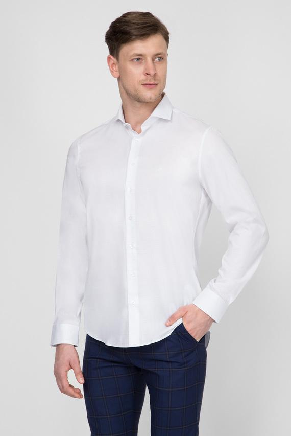 Мужская белая рубашка CHECK EASY IRON