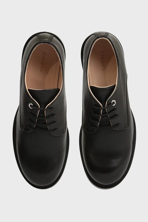 Женские черные кожаные дерби
