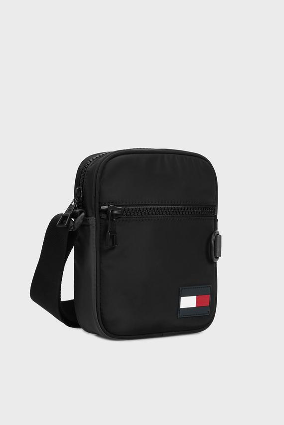 Мужская черная сумка через плечо MINI REPORTER