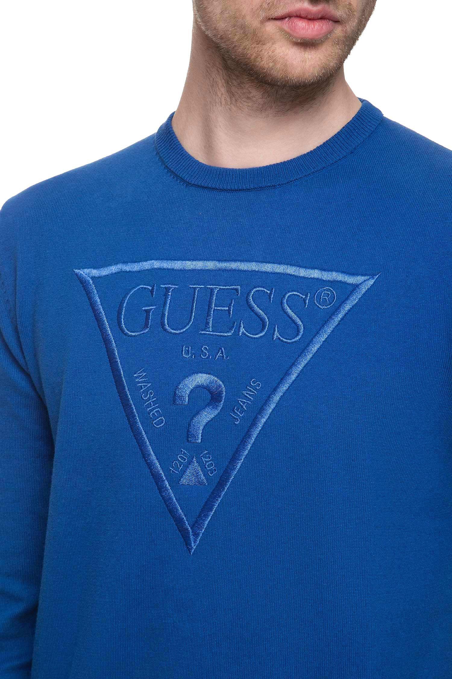 Мужской синий джемпер Guess