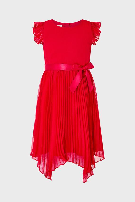 Детское красное платье RUBINA PLEAT