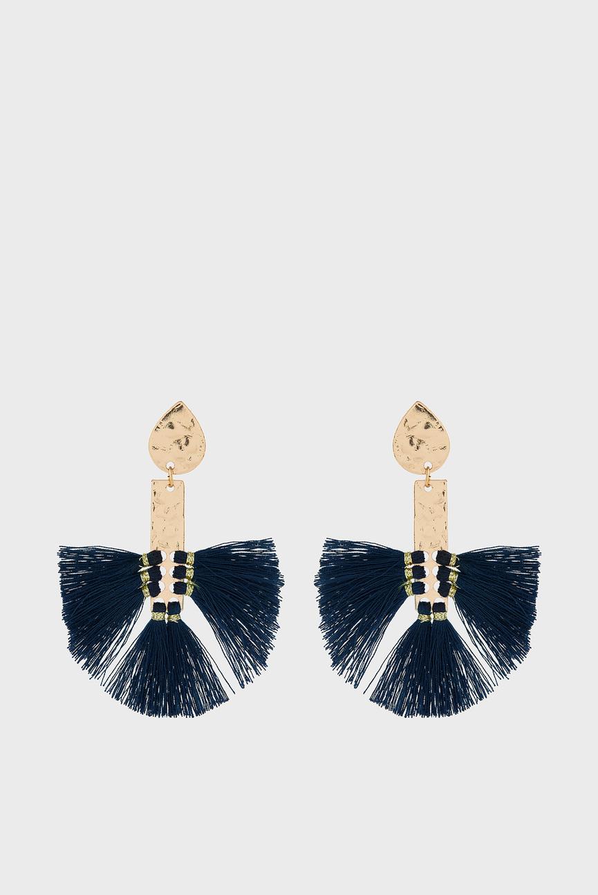 Женские синие сережки