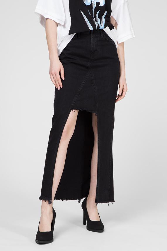 Женская черная джинсовая юбка DE-ANGIE